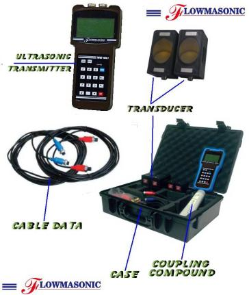 Portable ultrasonic flow meter wuf 100J