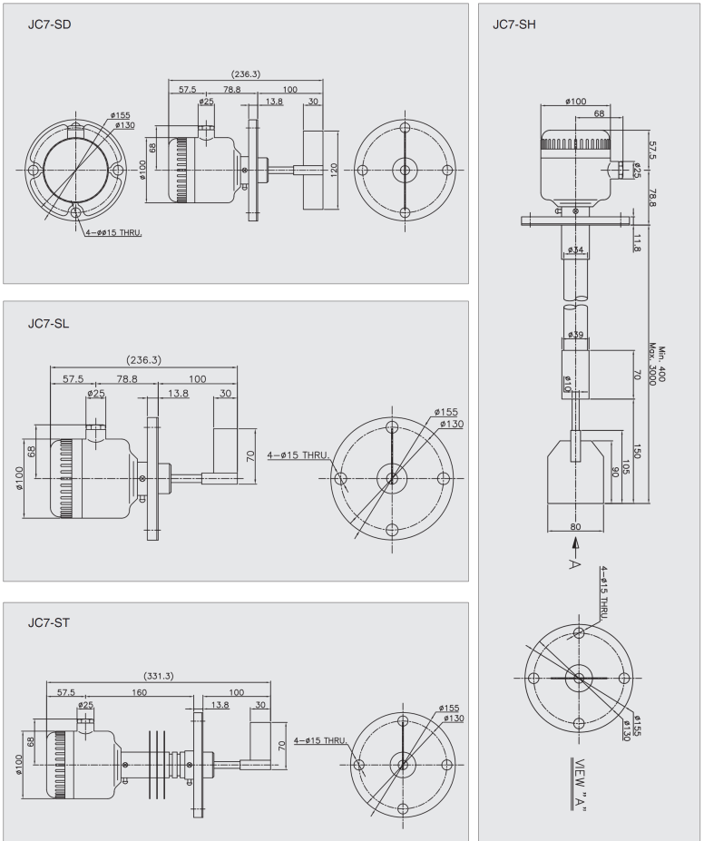Rotary Paddle Level Switch Parker JC7
